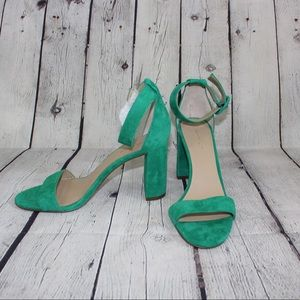 Ann Taylor Green Sandal with Ankle Strap
